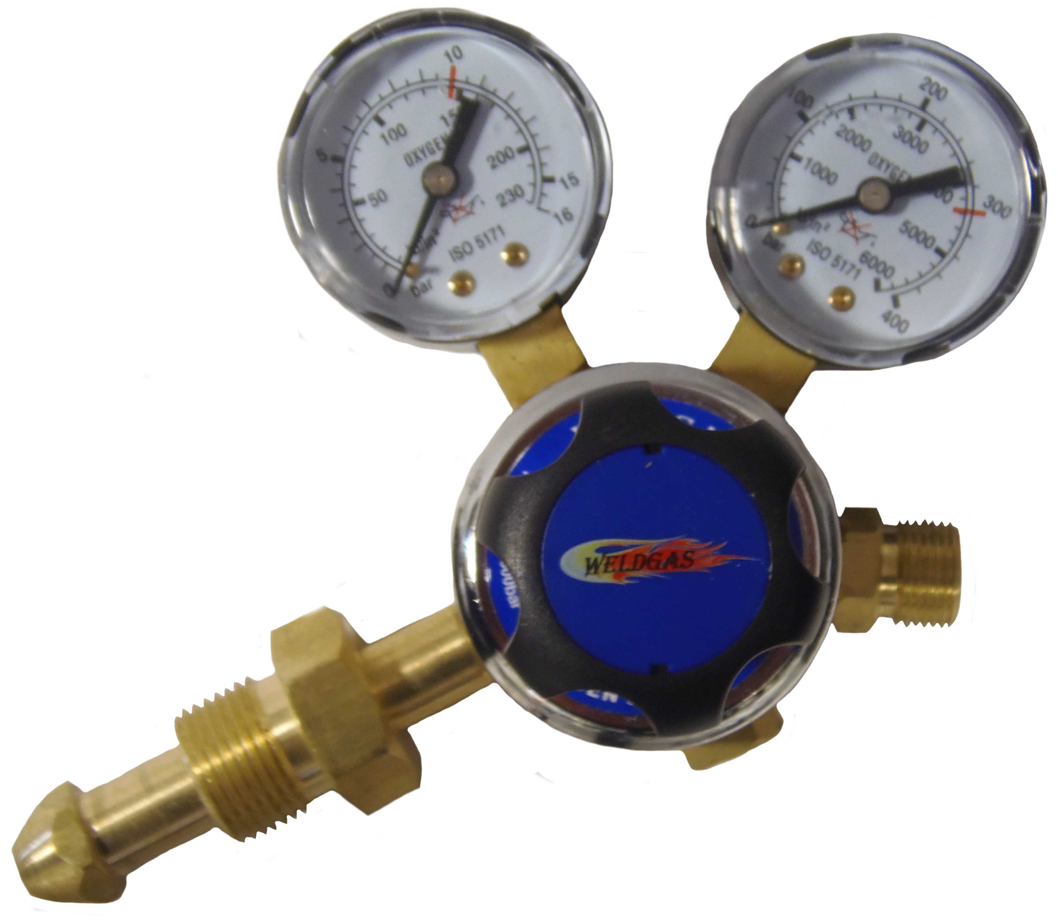 Single Stage 2g Side Entry Oxygen Regulator 10 Bar
