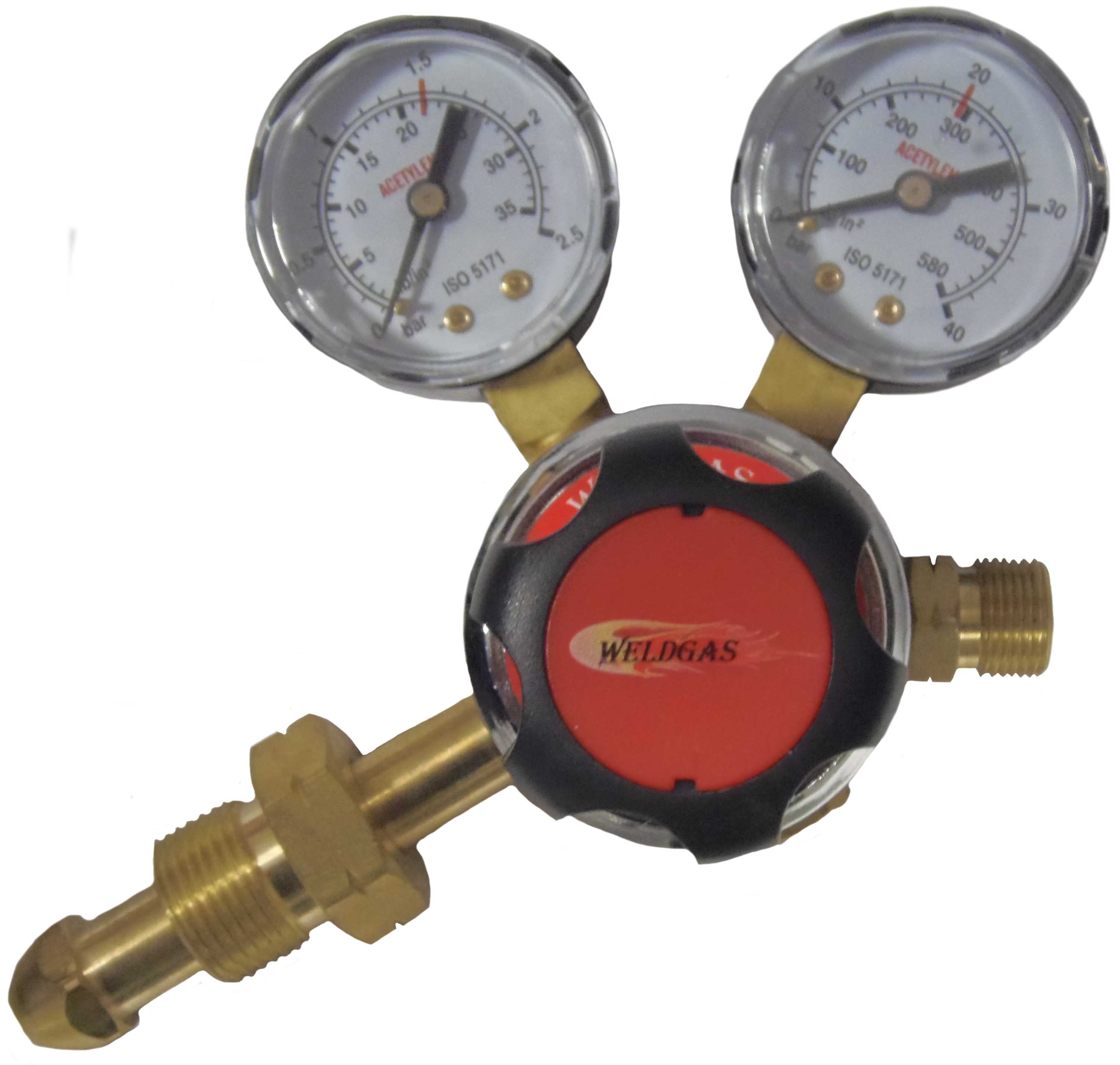 Single Stage 2g Side Entry Acetylene Regulator 1.5 Bar