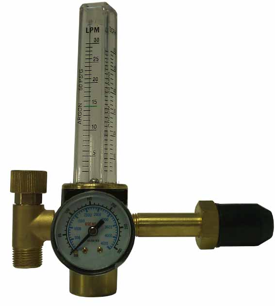 0-25 L/Mi Flowmeter Argon Regulator 230 Bar