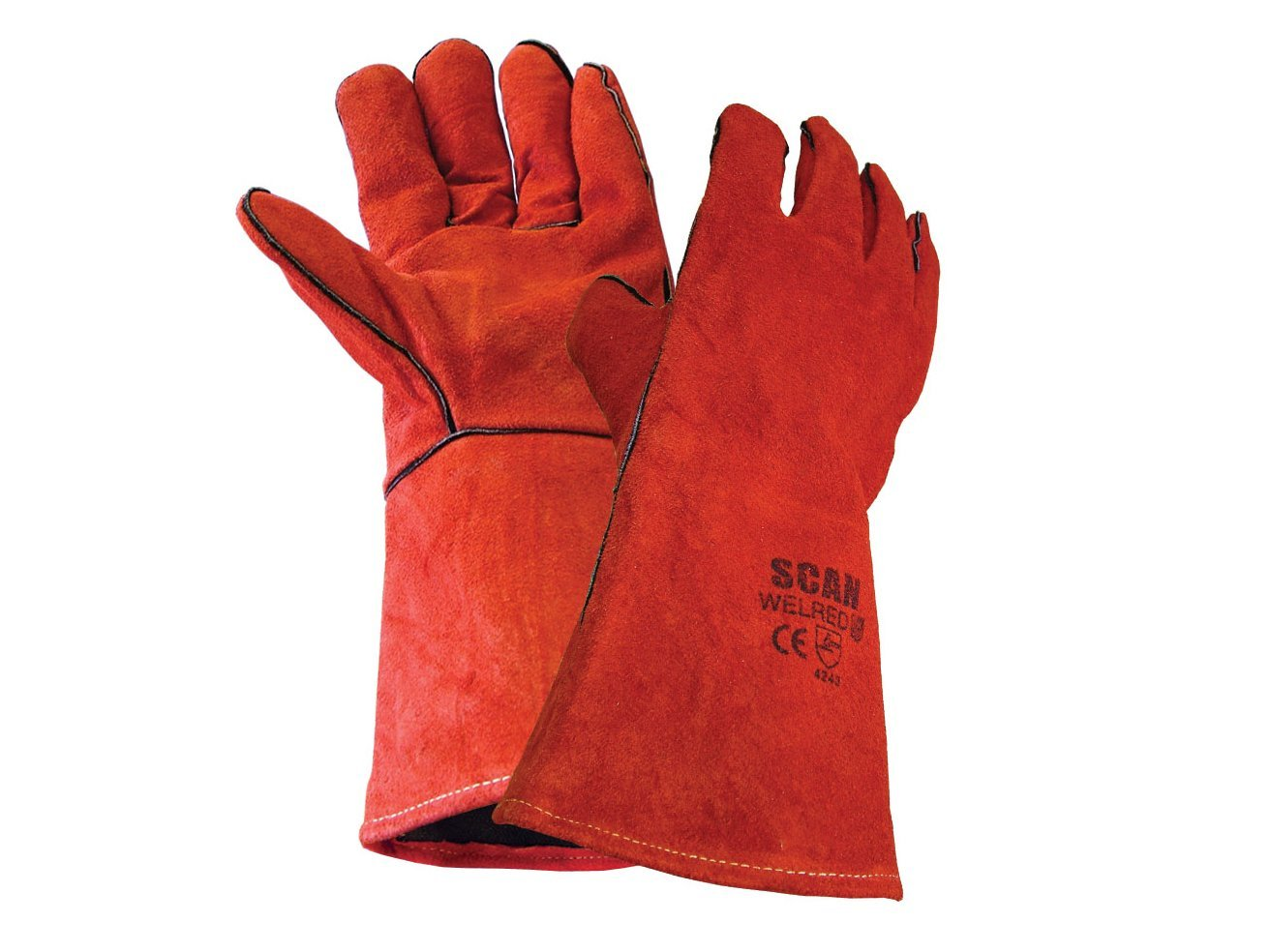 BASIC RED MIG GAUNTLET ONE SIZE ONLY
